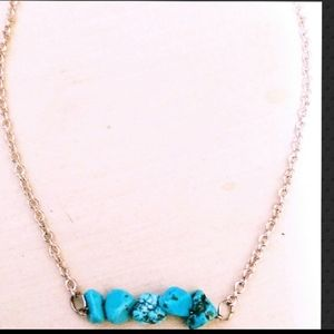 SALE 14k Rose Gold Turquoise Bar Necklaces